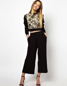 Cómo conjuntar los pantalones anchos, palazzo y baggy pants: Fotos de los modelos
