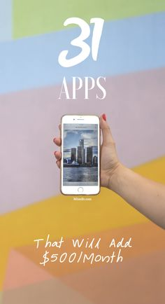 If you're looking for money making apps, you've gotten to the right place! Attached is a list of 31 apps that will pay you roughly $500 per month in additional income.