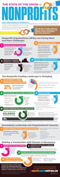 The State of the Union of Nonprofits #infographic #Nonprofit #Origanization