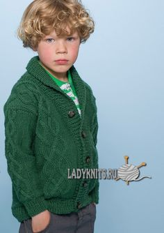 Вязаный спицами красивый жакет для мальчика от 2 до 12 лет, описание Knitting For Kids, Baby Knitting, Ethical Clothing, Handmade Clothes, Kind Mode, Knit Patterns, Kids And Parenting, Knitwear, Baby Kids