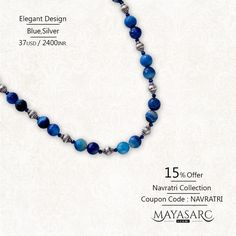 #Navratri Collection - Banded Blue Agates & #Bali Nugget #beads & Jewels @ #BigBillionDays https://www.mayasarc.com/product/just-gems-banded-blue-agates-bali-nuggets/2549-2563?utm_content=buffer36e60&utm_medium=social&utm_source=pinterest.com&utm_campaign=buffer