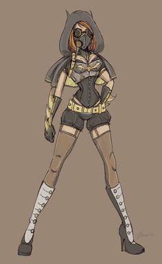 Alternate Batgirl Sketch by NoFlutter on deviantART, gorgeous concept, a bit too short though