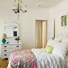 like the white with pops of color for the master bedroom