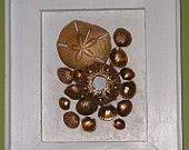 """Mixed Media, Seashell Wall Decor from Dana Ray Art """"Golden Bronze"""""""