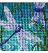 Dimensions Dragonfly Pair Mini Needlepoint Kit, 5 inch x 5 inch, Stitched in Thread and Ribbon, Multicolor Counted Cross Stitch Kits, Cross Stitch Embroidery, Embroidery Patterns, Cross Stitch Patterns, Beading Patterns, Needlework Shops, Needlepoint Kits, Needlepoint Stitches, Joanns Fabric And Crafts
