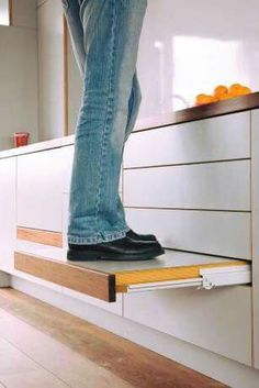 No room for a step in a tiny house so this is essential for those of us 5 ft 3 or less