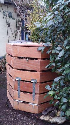 Compostbak hardhout, geschikt voor 500 liter, gaat 15 jaar mee.