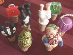 Collector Bottle Stopper Corks-Never used-Bride/Groom/Purses/Holiday