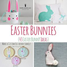 43 DIY Easter Bunny Ideas