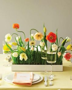 red flower designs, table decorations, floral table centerpieces