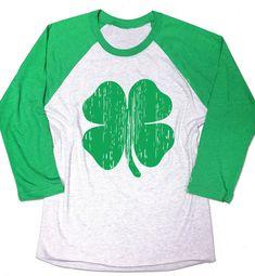 St Patrick s Day Lucky Shamrock Shirt. by signaturetshirts on Etsy Shamrock  Shirt 8a4c70e00