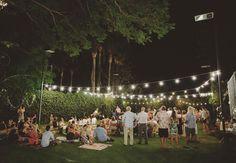 love this backyard reception area! | samm blake photography + green wedding shoes.