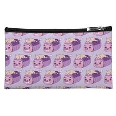 #Cute Frenchie and her imaginary friend Cosmetic Bag - #bulldog #puppy #bulldogs #dog #dogs #pet #pets