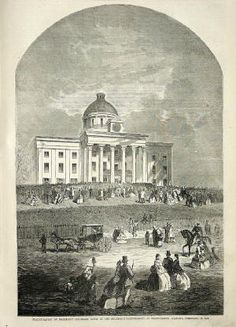 The Inauguration of President Jefferson Davis, Confederate States of America, February 18, 1861