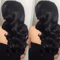 """Bombay Hair extensions - a must when perfecting your lookstyled by @hairmakeupbyamberali achieve this look with our Jet Black 20"""" 220grams.  Shop any of our 3 stores: www.bombayhair.com  www.bombayhair.ca  www.bombayhair.co.uk"""