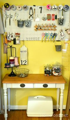 homeroad: DIY Re-do Sewing Table