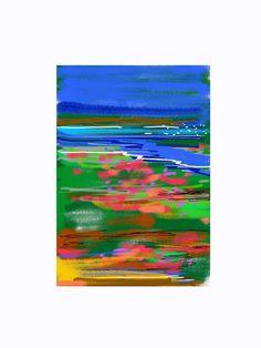 'Albufera', una obra de Colin Bertholet que se incluye en su colección 'Índigo' y se puede adquirir en la tienda online http://colingarabatosdigitales.com/ #DigitalArt #iPad #GarabatosDigitales