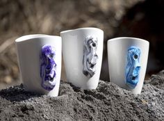 Chalk up and try our rock climbing mugs for your next cup of coffee. The climbing hold on the side is handmade and comes in a variety of colors. The