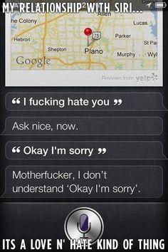 Siri es chache.