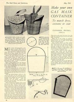 Patterns Gas Mask Porteurs & sac à main: Chic Vintage