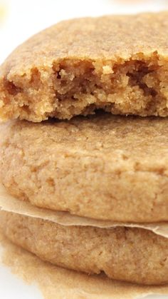 The Ultimate Healthy Soft & Chewy Peanut Butter Cookies ~ These easy and healthy cookies taste just as indulgent as traditional recipes for classic peanut butter cookies! They'll stay soft and chewy for an entire week if stored in an airtight container—if they last that long!