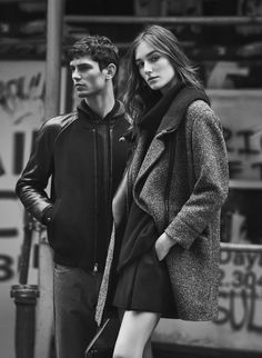 Josephine Le Tutour and Arthur Gosse for Vince FW15 / Photographed by Lachlan Bailey and styled by Clare Richardson