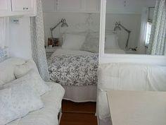 the inside of a camper.