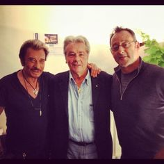 0 Johnny Hallyday with Alain Delon and Jean Reno Jean Reno, Alain Delon, Johnny Legend, Johnny Halliday, Star Francaise, Jean Philippe, Serge Gainsbourg, Christian Audigier, Star Wars