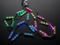 An Arduino and an Adafruit LED bar make a bright and beautiful Christmas light string By Donald Doerres. Led Panel Light, Led Light Strips, Light String, Flexible Led Light, Power Wire, Christmas String Lights, Led Flood Lights, Led Module, Diy Electronics