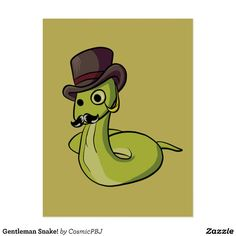 Gentleman Snake! Postcard