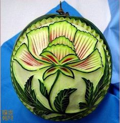 food carving-- watermelon-flower