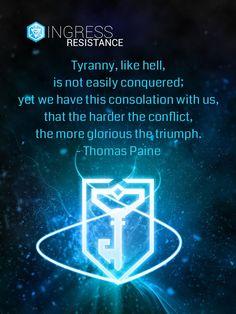 American Ingress Resistance - Thomas Paine Tyranny Like Hell