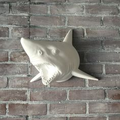 ANY COLOR Great White Shark Head Wall Mount // Faux by KINGFOUR