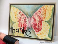 Faber-Castell Design Memory Craft Iron Off Emboss resist-Stampin Up.  Tutorial available http://enjoyscrappin2.com