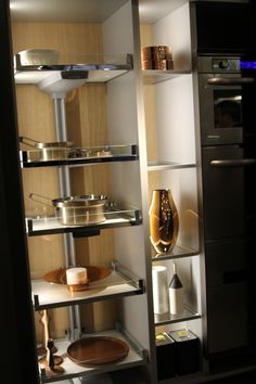 #blancodesigncouncil #blancoamerica Kitchen Designs EuroCucina 2014 - Kitchen Storage and Organization, Kessebohmer