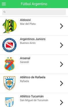 Do you want know the history of your club? To know who won every championship? The Argentina Football Teams App has everything you need.