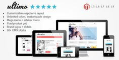Buy Ultimo - Fluid Responsive Magento Theme by infortis on ThemeForest. Ultimo is a premium Magento theme with advanced admin module. It's extremely customizable, easy to use and fully res. Theme Template, Browser Support, Themes Free, Web Themes, Menu, Responsive Layout, Grid System, Drupal, E Commerce