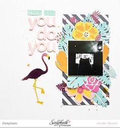 """Puck loves sitting right in front of the tv screen - I hate when he does that. Hence the """"you do you"""" - something I use when I very grudgingly accept someone's """"Way of Life"""". My cat loves to mess with me.  Featuring the @scrapbookwerkstatt april kit.   #sbwdesignteam #sbw #papercraft #papercrafting #craft #crafting #diy #memorykeeping #sbwmonatskit #scrapbooking #scrapbooklayout #patternedpaper"""