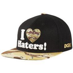 DGK Haters Snapback - Men's - Black Dessert