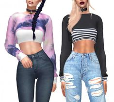 Kenzar Sims: Sollege Sweater • Sims 4 Downloads