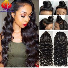Find More Human Wigs Information about Affordable Full Lace Wigs 100 Human Hair Wigs For African Americans Full…