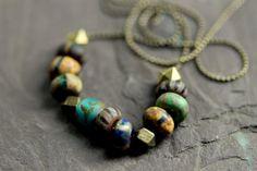 Tribal Necklace  Savannah Summer by NighBluey on Etsy, $20.00