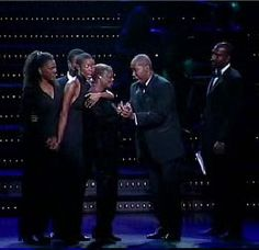 Dreamgirls 20th Anniversary Benefit Concert for the Actors' Fund in New York City on September 24, 2001. Pictured: Audra McDonald, Heather Headley, Billy Porter, Darius de Haas, Lillias White, and Norm Lewis