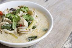 Rezept für eine Tom Kha Gai-Suppe