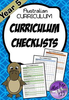 FREE Year 5 ACARA Curriculum Checklists