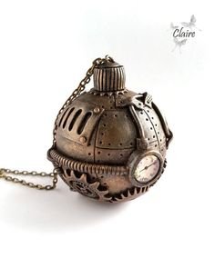 Steampunk Christmas Tree Ball. Christmas tree ornament. Christmas decor. Christmas decorations. Gift for Christmas. Xmas. Bronze. Dieselpunk