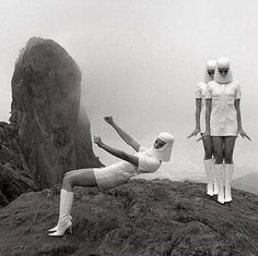 '60 space age fashion by Pierre Cardin.