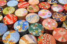 Washi paper tea tins  Washi paper - re-Pinned by HankoDesigns.Com