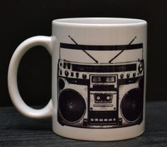 Mixtape Coffee Mug  Boombox / Tape / Cassette by DailyGrinder, $14.00