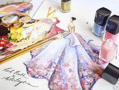 Esmalte de uñas transformado para crear diseños de moda de fantasía…